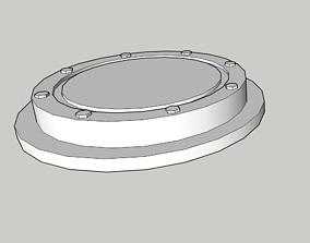 Round pedestal for figurines 3D printable model