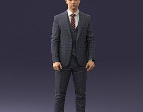 3D Man in suit 0904