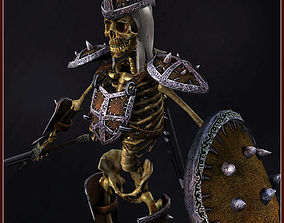 Skeleton Hero Soldier 3D asset