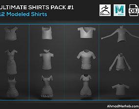 3D Ultimate Shirts Pack 1 Models
