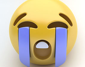 Emoticon bawling 3D