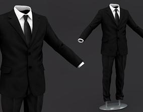 Suit men 3D Model Clothing 4
