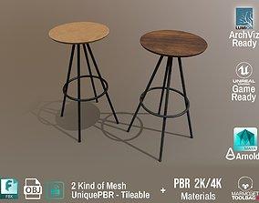 PBR Various Options Bar Chair Design - Lumion - 3D asset