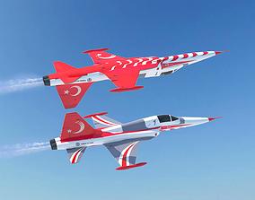 3D model Turkish Stars F-5 Fighter Jet