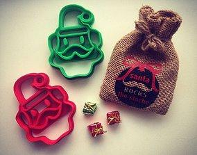 3D print model Santa Clause Cookie Cutter