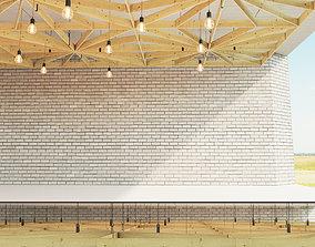 Wooden suspended ceiling 4 3D asset