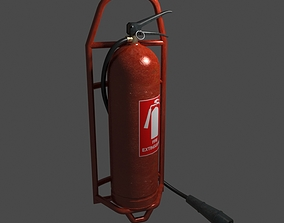 3D Fire extinguisher industrial