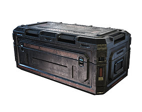 3D asset realtime Sci-fi Military Container Game Free