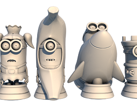 3D print model Minion chess