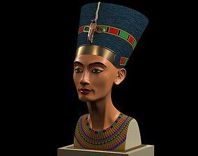 Nefertiti Bust restored 3D printable model