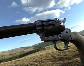 3D model low-poly Colt SAA Peacemaker