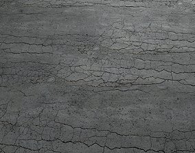 3D model Cracked asphalt scan 45 tile