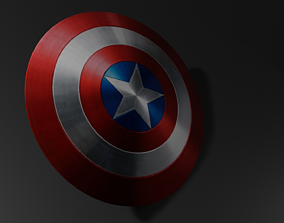 realtime shield low poly 3d model
