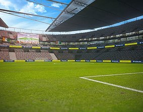 VR / AR ready Football Soccer stadium game ready 3d model
