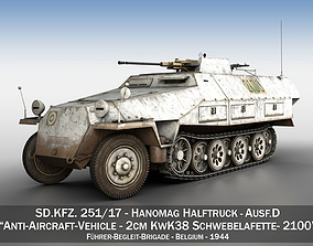 SDKFZ 251 - Ausf D - Anti-Aircraft-Vehicle - 2100 3D