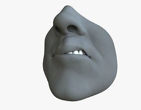 Male Mouth Rigged 3D