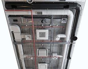 3D Ventilation system set 01 conditioning