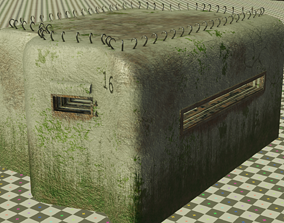 Bunker 3D asset low-poly