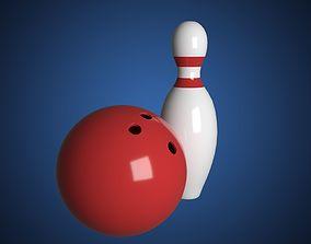3D model Bowling Cartoon