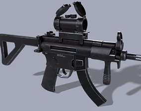 MP5 with Scope 3D asset