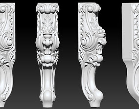 Furniture Legs 3d STL Model Relief for CNC set 014