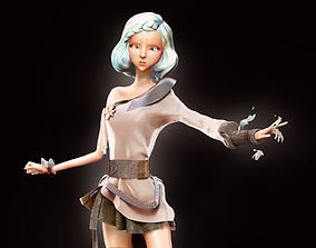 Enchantress high poly model 3D