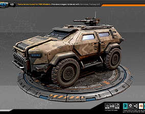 RTS Armoured 4X4 - 12 3D model