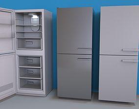 3D model Fridge with Interior - Lightmapped - Octane