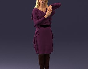 The blonde in the purple dress 0222 3D Print Ready