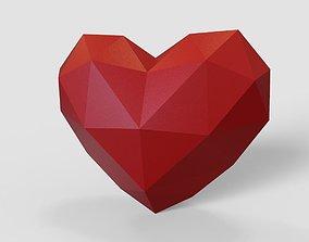 heart pepakura lowpoly for 3d printing