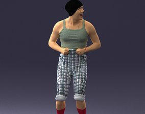 Jolly weirdo in red socks 0087 3D Print Ready
