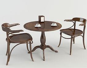 Table Chairs - Tavern Bar 2 3D model