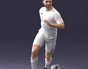 3D Soccer player with ball 0912