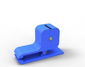 Tape cutter stationery 3D Model