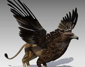 Griffin Animated 3D asset