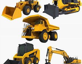 3D Collection Heavy Vehicle Industrial 01