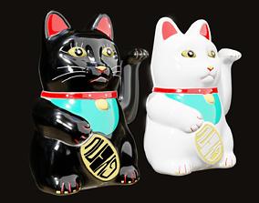 3D model Maneki Neko - Chinese Paw Swinging Lucky Cat