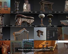 3D Antique Furniture and Appliances