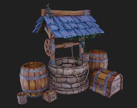 3D model Low-Poly Medieval Set