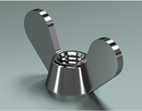 3D Wing Nuts DIN 315