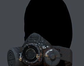 Gas mask helmet 3d model scifi VR / AR ready 3