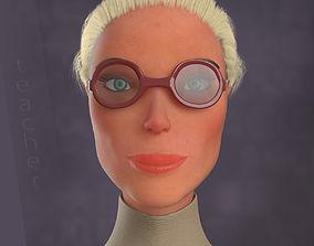 game-ready Teacher female lowpoly model