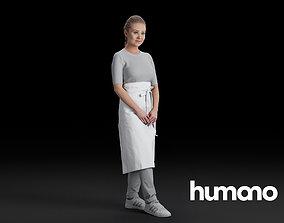 3D Humano Waitress woman 0610