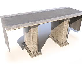 3D model Marble church altar