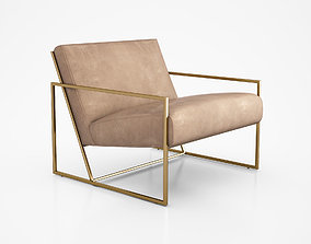 3D model Thin Frame Lounge Chair by Lawson Fenning