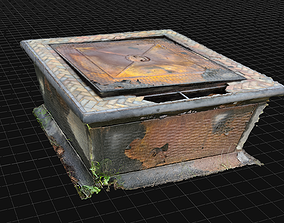 3D Old Fire Pit - Rusty