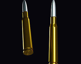3D asset Bullet in Gold with Low poly version included