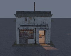 Generator Shed 3D asset VR / AR ready