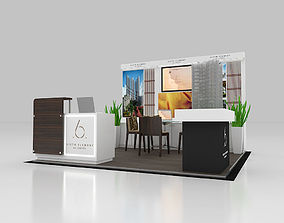 3D asset Condo Display size 3x3 m