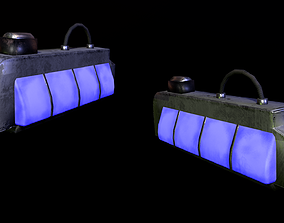 Cyberpunk Light Game-Ready 3D model low-poly